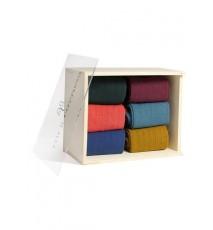 Caja de Madera de 6 calcetines de caña alta de las Tallas 36 - 39