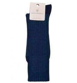 Calcetín Hilo de Escocia bicolor Azul y Turquesa
