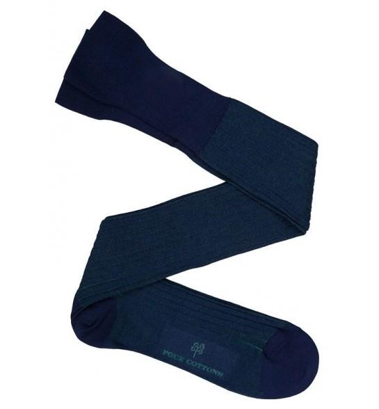 Calcetín Hilo de Escocia bicolor Azul y Verde