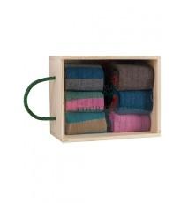 Caja de Madera de 6 calcetines de caña corta de las Tallas 36 - 39