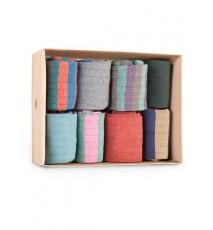 Caja de Cartón de 8 calcetines de caña corta de las Tallas 36 - 39