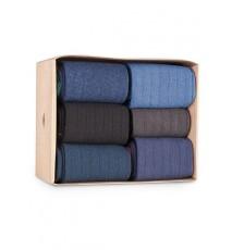 Caja de Cartón de 6 calcetines de caña corta de las Tallas 36 - 39