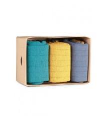 Caja de Cartón de 3 calcetines de caña corta de las Tallas 36 - 39