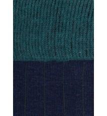 Rayas Verde oliva - Azul melnge