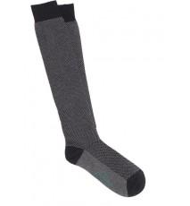 Calcetines de espiga largos en tonos gris oscuro y gris claro