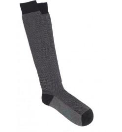 Calcetín de espiga gris oscuro y gris claro