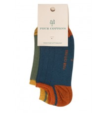 Pack de calcetines tobilleros Azul midnight y Verde oliva