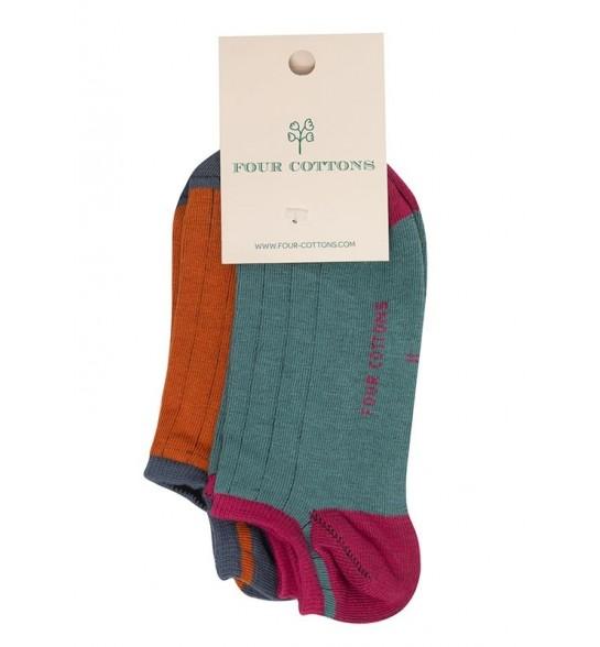 Calcetines tobilleros de algodón