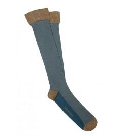 Calcetines de ojo de perdiz en camel y azul stone