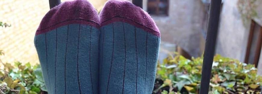 Calcetines de Canalé en algodón peinado e Hilo de Escocia Four Cottons