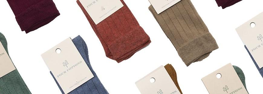 Calcetín de algodón peinado alta calidad de caña corta