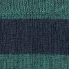 Rayas Azul marino melange - Verde campo melange